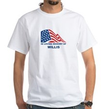 Loving Memory of Willis White T-shirt