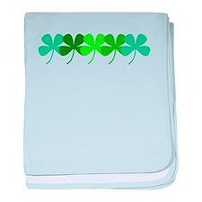 Irish Green 4 Leaf Clovers St. Patric baby blanket