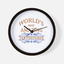 Tax Preparer Wall Clock