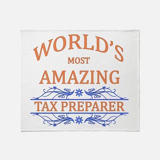 Tax Preparer Throw Blanket