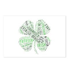 St. Patricks Shamrock Postcards (Package of 8)