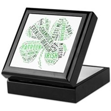 St. Patricks Shamrock Keepsake Box