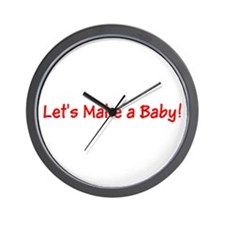 Lets Make a Baby Red for RJ Wall Clock