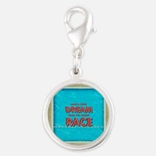 Swim Dreams Silver Round Charm