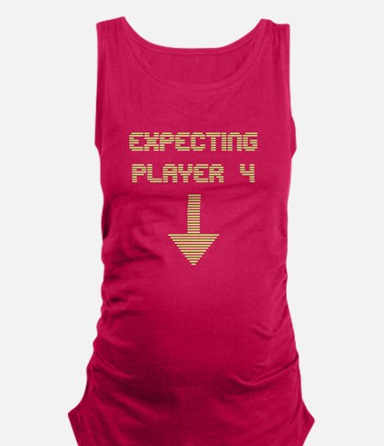 Expecting Player 4 Maternity Tank Top