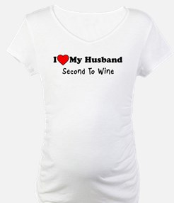 Love Husband Second To Wine Shirt