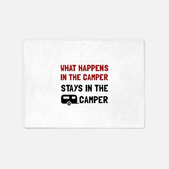Happens Stays In Camper 5'x7'Area Rug