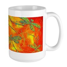 Dragonfly Fire Mugs