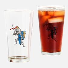 Knight Cartoon Drinking Glass