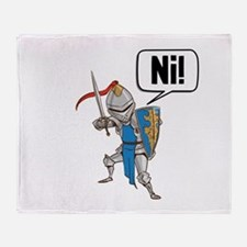 Knight Say Ni Cartoon Throw Blanket