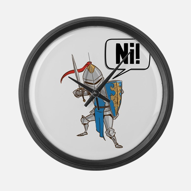 Knight Say Ni Cartoon Large Wall Clock