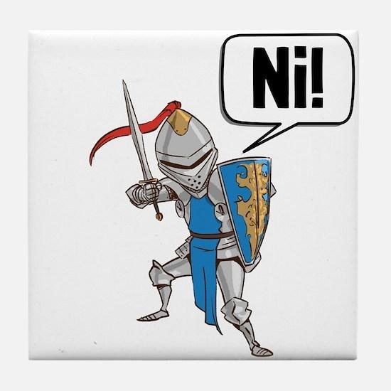 Knight Say Ni Cartoon Tile Coaster