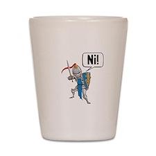 Knight Say Ni Cartoon Shot Glass