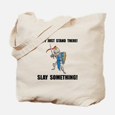 Knight Slay Something Cartoon Tote Bag