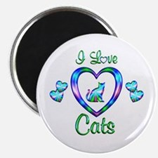 I Love Cats Magnet