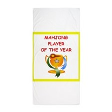 mahjong Beach Towel