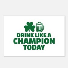 Drink like a champion tod Postcards (Package of 8)