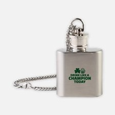 Drink like a champion today Flask Necklace