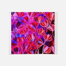 EFFLORESENCE Pink Red Blue Watercolor Floral Patte