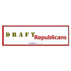 """Draft Republicans"" Political Bumper Stickers"