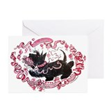 Scottie valentine Greeting Cards (20 Pack)