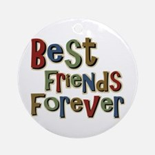 Best Friends Forever BFF School Ornament (Round)