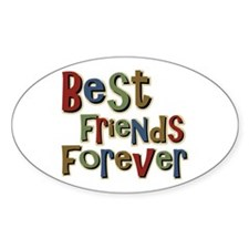 Best Friends Forever BFF School Oval Decal