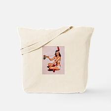 Vintage Pin-Up Tote Bag