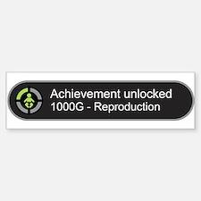 Achievement Unlocked - Reproduction Bumper Car Car Sticker