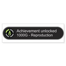 Achievement Unlocked - Reproduction Bumper Car Sticker