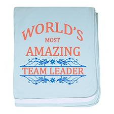 Team Leader baby blanket