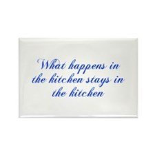 What happens in the kitchen-Cho blue Magnets