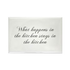 What happens in the kitchen-Cho gray Magnets