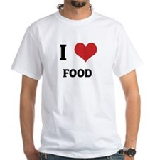 I Love Food White T-shirt