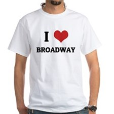 I Love Broadway White T-shirt