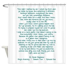 MOSTLY JUST CRUEL Shower Curtain
