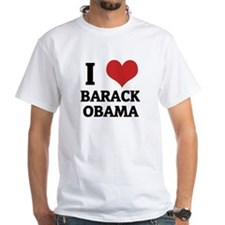I Love Barack Obama White T-shirt