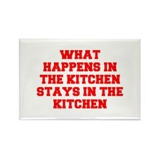 What happens in the kitchen-Fre red Magnets