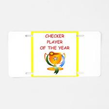 checkers Aluminum License Plate