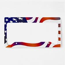 Wavy American Flag License Plate Holder