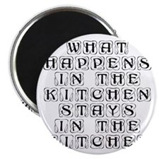 What happens in the kitchen-Kon black Magnets