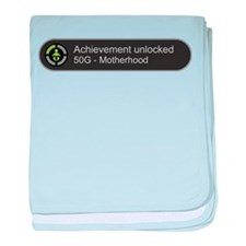 Motherhood - Achievement Unlocked baby blanket