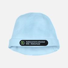 Motherhood - Achievement Unlocked baby hat