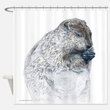 Funny Groundhog Shower Curtain