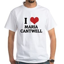 I Love Maria Cantwell White T-shirt