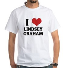 I Love Lindsey Graham White T-shirt