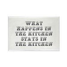 What happens in the kitchen-Max black Magnets