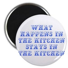 What happens in the kitchen-Max blue Magnets