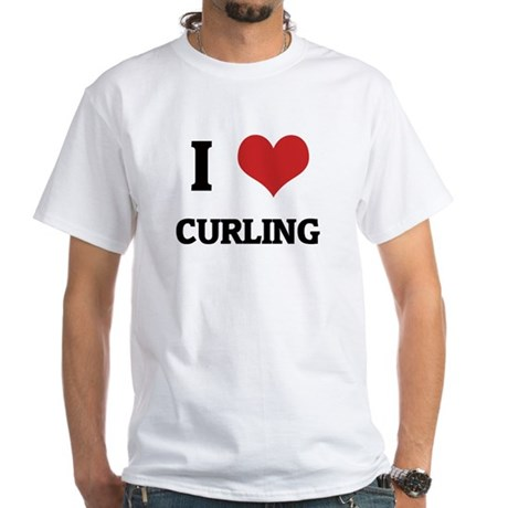 I Love Curling White T-shirt