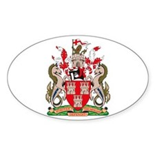 Newcastle City Coat of Arms Oval Decal